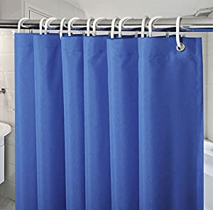 54 Inch X72 Shower Curtains For Bathroom Navy Blue Royal Curtain Mildew Resistant