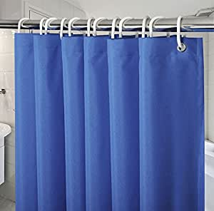 54 Inch X72 Shower Curtains For Bathroom Navy Blue Royal
