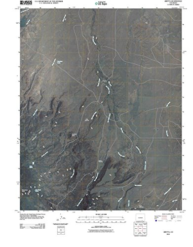 - Colorado Maps | 2010 Abeyta, CO USGS Historical Topographic | Cartography Wall Art | 18in x 24in
