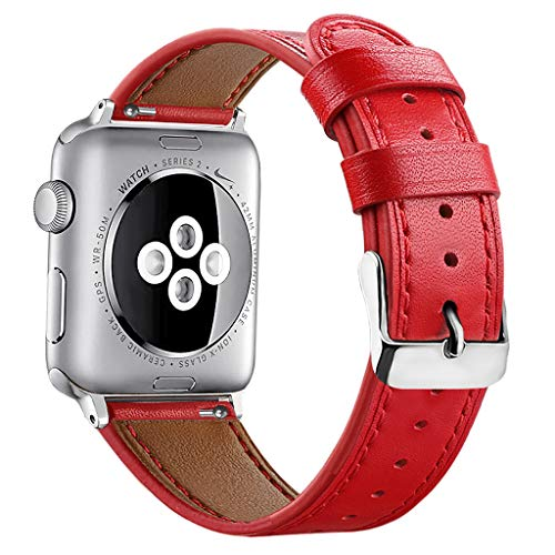 Price comparison product image BIYATE Leather Band Compatible Apple Watch 42mm 44mm,  Genuine Leather Shiny Glitter Strap Compatible Apple Watch Series 4 Series 3 Series 2 Series 1,  Sports & Edition Women