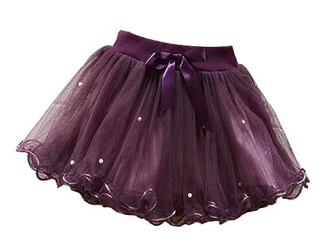 Alien Storehouse [Púrpura] Falda de Tutú para Niña Falda de ...