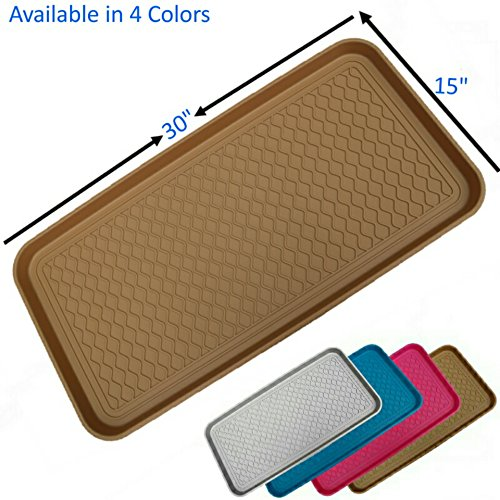 Mr-Peanuts-Anti-Slip-Multi-Purpose-Boot-Tray-Pet-Feeding-Mat-for-Boots-Shoes-Paint-Dog-Bowls-Cat-Litter-Box-Gardening-Floor-Protection-with-Anti-Slip-Pads-30-x-15-x-12