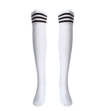 DOGZI Mujer Moda Calcetines largos de fútbol sobre la rodilla a ...