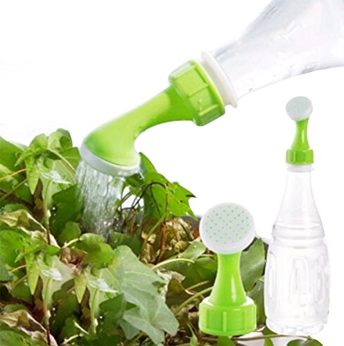Mini Hand Bottle Watering Spout Adapter Portable Sprinkler Cap Watering Can Garden Tools, 4 Pack