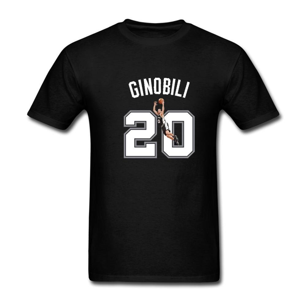 FIVE Miumine Mens Manu Ginobili 20# San Antonio Spurs Short Sleeve T-Shirt: Amazon.es: Ropa y accesorios