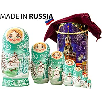 1 Set Creative Russian Matryoshka Can Lay Eggs Wooden Nesting Dolls Crafts HY#U