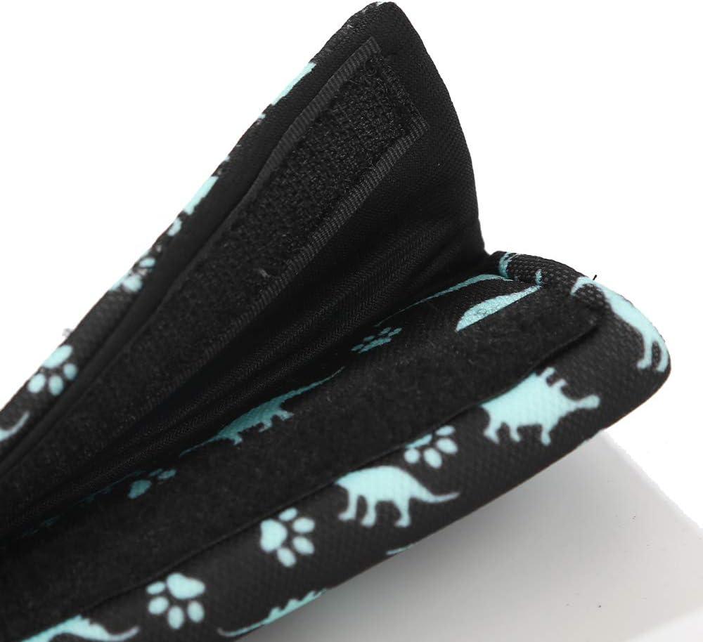 Almohada para cintur/ón de seguridad para ni/ños almohadilla para la cabeza y el cuello 2 piezas de unicornio para cintur/ón de seguridad de coche