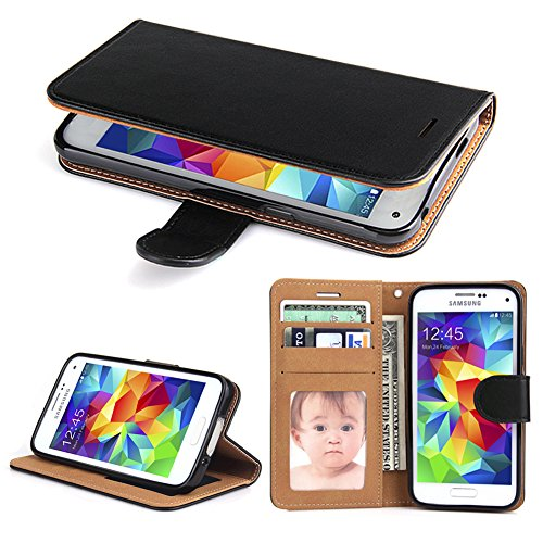 Galaxy S5 Case, SOWOKO [Book Style] Samsung S5 Leather Wallet Case Flip Folio Shockproof Protection Cover with Credit Card Slots and Kickstand for Samsung Galaxy S5 (Black) by SOWOKO