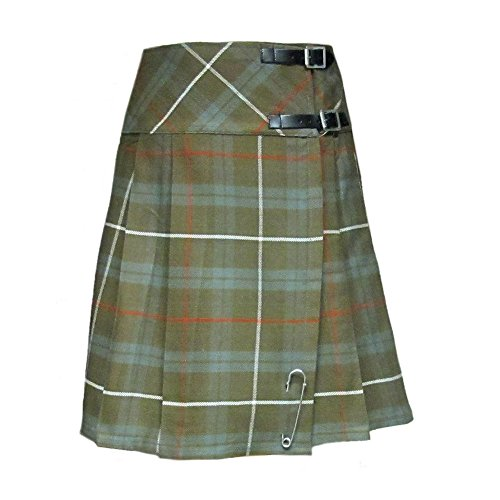 Tartanista Womans Weathered Look Fraser 20 Inch Wrap Knee Length Kilt Skirt Size 14