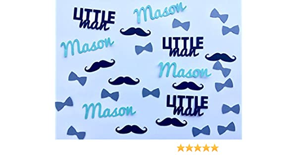 350 pieces Little Man Baby Shower Personalized Confetti Bow Ties and Name Confetti