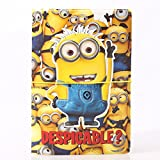 Mingyang 2016 3D Cartoon Minions Despicable Me 2 Passport Cover Holder PVC Travel Card Passport Holder Case Bag ID Holders