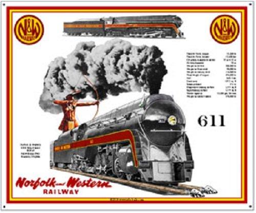 Norfolk & Western Railroad Class J Tin Sign