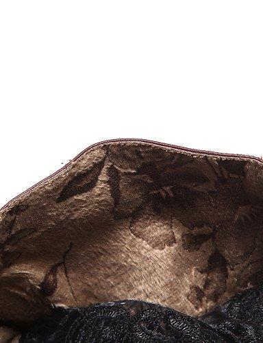Uk5 Xzz negro Botas 5 Redonda Casual De Semicuero 5 5 Marrón A 5 us6 White Moda Zapatos us7 Cn37 Brown Mujer La Eu38 Encaje Punta Tacón Vestido Robusto Uk4 Cn38 5 7 Eu37 rgrAqxZ0