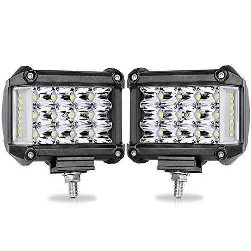 Side Shooter LED Pods, OFFROADTOWN 2pcs 4 38W LED Work Light Bar Spot Flood Combo Driving Fog Lamp for off-road Truck Car ATV SUV Jeep Boat, 2 Years Warranty