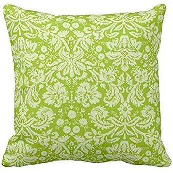 Amazon.com: Apple verde Damask Pattern Funda de almohada ...