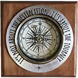 It's Not About the Destination, It's About the Journey Pewter and Wood Paperweight