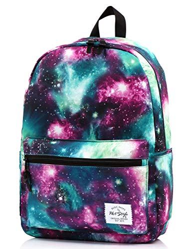 HotStyle TRENDYMAX Galaxy Backpack for School Girls & Boys, Durable and Cute Bookbag with 7 Roomy Pockets