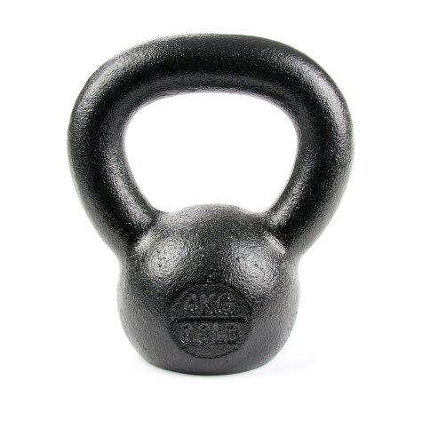 Tekbell Kettlebell, 4kg (10-Pound), Black