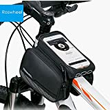 OutlifE Roswheel 5.5 inches Shockproof Mountain Saddle Bicycle Bike Front Frame Phone PVC Bag with Dual Pouch for iPhone Samsung HTC etc