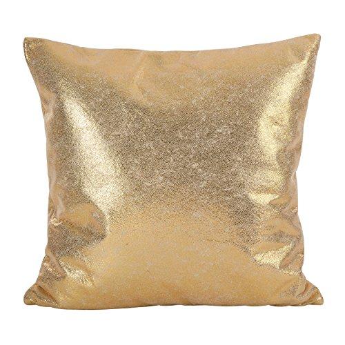 (SARO LIFESTYLE Shimmering Metallic Design Down Down Filled Throw Pillow, 20