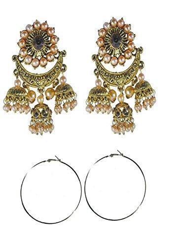 04b9cdbaf S&S party wear earrings for women combo of 2 stylish earring sets in  different designs in