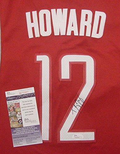 (Dwight Howard Houston Rockets Autographed Red #12 Jersey JSA COA )