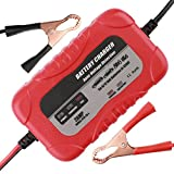 #6: Automotive Car Battery Charger Trickle Charger,Battery Charger Automotive Maintainer 6V 12V Automotive Battery Charger 2Amp for Car Battery Motorcycle Lawn Mower Marine Scooter Lead Acid Battery