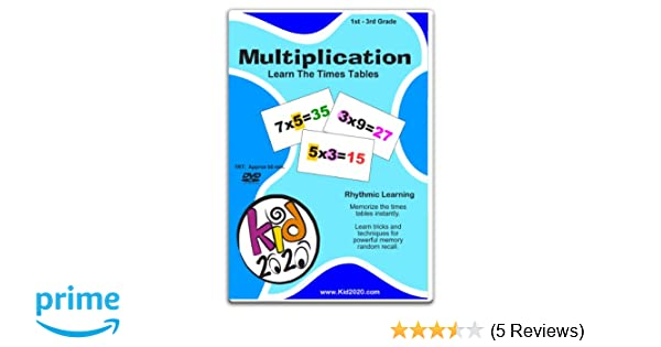 Amazon.com: Multiplication DVD: Animated numbers, children, Kid 2020 ...