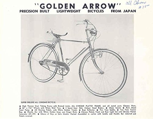 Amazon com: 1970 Golden Arrow Bicycle Brochure