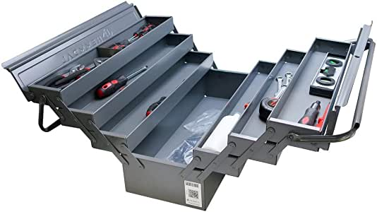 Hemmdal - Caja de herramientas vacía (metal, 6 compartimentos extraíbles): Amazon.es: Bricolaje y herramientas