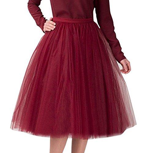 Princesse Année Sous Robe Mariage Rouge 50 Haute Petticoat jupon Taille Tulle Jupon Tutu Foncé Style Petticoat Femme jupe Vintage Poachers Retro De En dCeroxB