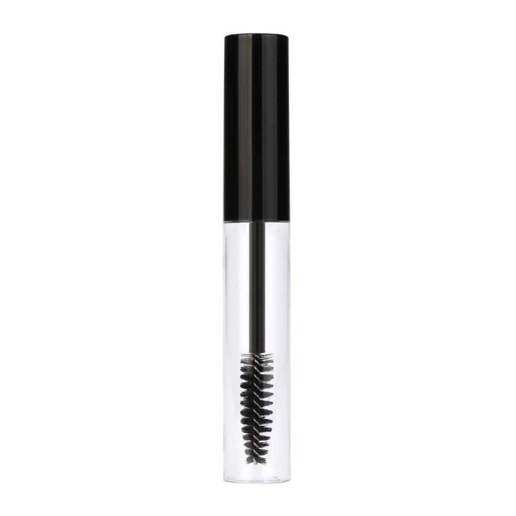 Kanzd 10mL Empty Mascara Tube Eyelash Cream Vial/Liquid Bottle/Container Black Cap Full Mascaras (Black)