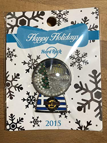 Limited Edition Snowglobe - Hard Rock Cafe HRC Athens (Greece) 2015 Holiday Snow Globe Series Limited Edition Pin