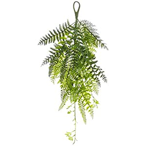 "21"" Mixed Fern Tear Drop Green (pack of 6) 86"