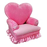 Newco Kids Princess Heart Chair Minky, Pink Dot