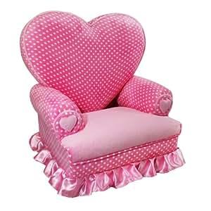 Amazon Com Newco Kids Princess Heart Chair Minky Pink