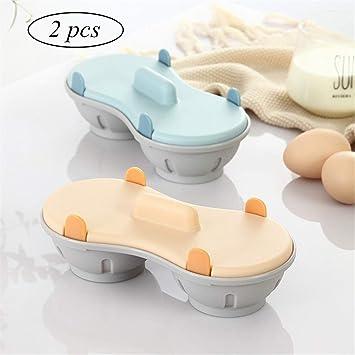 LMFLY Egg Cocedor de HuevosMicroondas Vapor de Huevo Diseño de ...