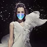 7 Color Lights LED Light up Face Mask USB
