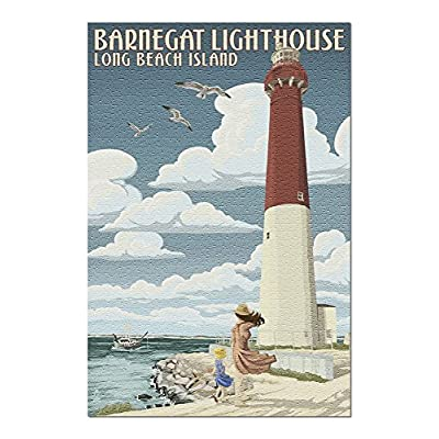 Long Beach Island, New Jersey - Barnegat Lighthouse (Premium 1000 Piece Jigsaw Puzzle for Adults, 20x30, Made in USA!): Toys & Games