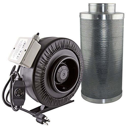 Apollo Horticulture AH IF6+CF6 6'' 440 CFM Inline Fan with 6'' Carbon Filter by Apollo Horticulture