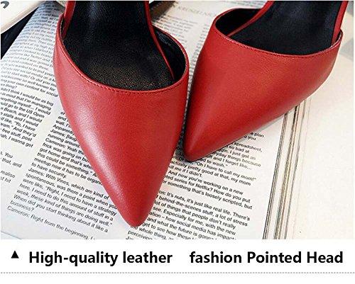 casuale delle Tacco puntato donne red moda testa confortevole alto LJO Asakuchi sandali estate 8wdnaAAB