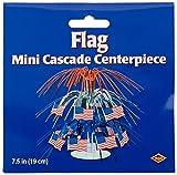 Beistle 57369 Flag 71/2-Inch Cascade Centerpiece, Mini