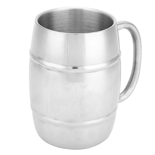 Taza de café, 1 pieza de acero inoxidable de pared doble ...