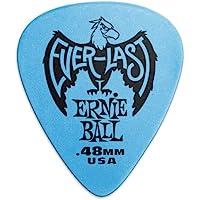 Ernie Ball P09181 Ernie Ball 0.48 mm Everlast Picks 12 Pack, Blue, Blue, 0.48 mm