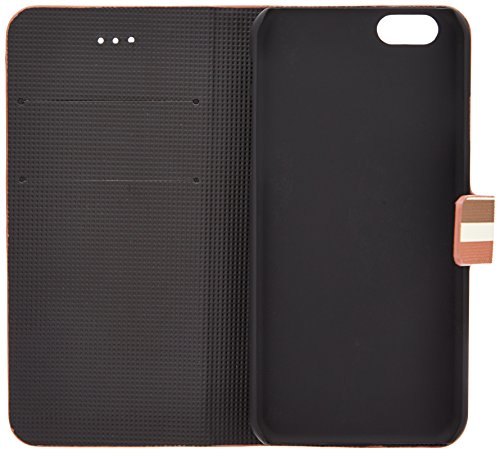 LD A001082 Case Schutzhülle für Apple iPhone 6 4,7 Zoll, horizontaler Linien, braun