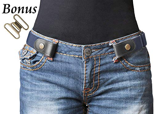 No Buckle Stretch Belt For Women/Men Elastic Waist Belt Up to 33