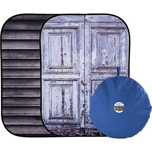 Lastolite LL LB5715 5 x 7 Feet Urban Collapsible Background Derelict Wall/ Wooden Fence ()