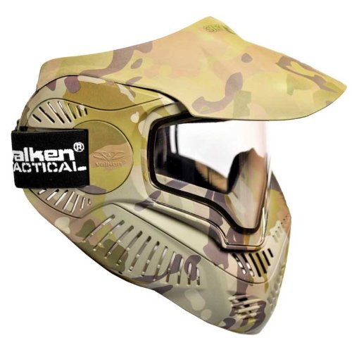 VALKEN MI-7 Cam Écran Thermal Masque de Paintball Mixte Adulte, Camo