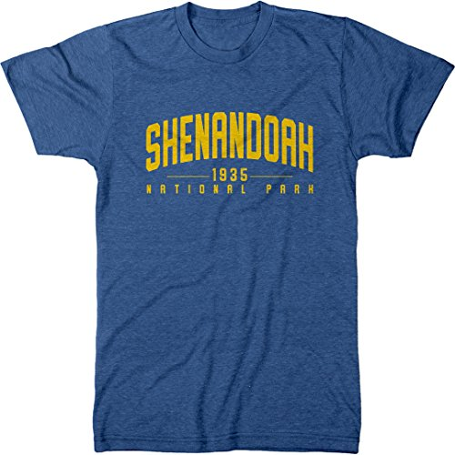 Shenandoah National Park Men's Modern Fit Tri-Blend T-Shirt (Vintage Royal, X-Large)