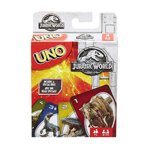 Dinosaur Monopoly - Mattel Jurassic World Uno Card Game